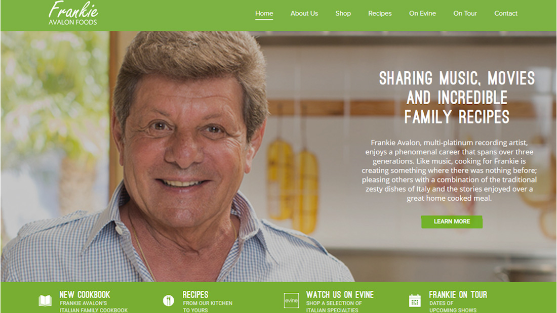 Frankie Avalon Foods, LLC website